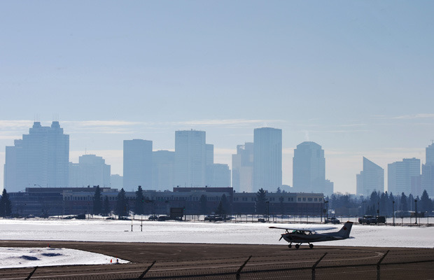"(via Smog hits 'high risk' levels in Edmonton) ""The City of Edmonton is experiencing heightened levels of smog Wednesday, a problem expected to continue at least into Thursday. Air quality is at a 7 or ""high risk"" on the provincial Air Quality Health Index, which operates on a scale of 1 to 10."""