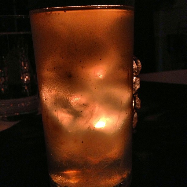 Ginger brew by candle light. (at Shojin)