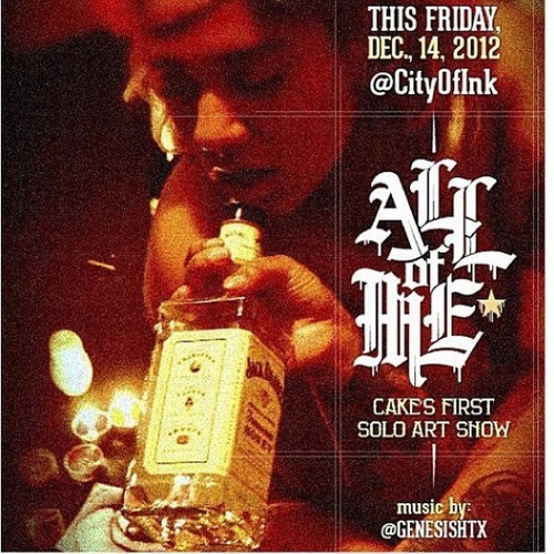 Make sure you check out @atasteof_cake solo art show!! 👍👍