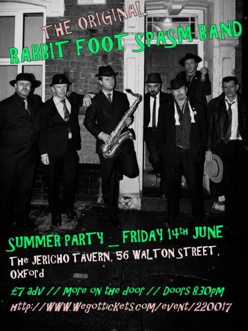 Here's the flyer for our summer party - Jericho Tavern, 14th June. It's so retro that even looking at it makes my head hurt.