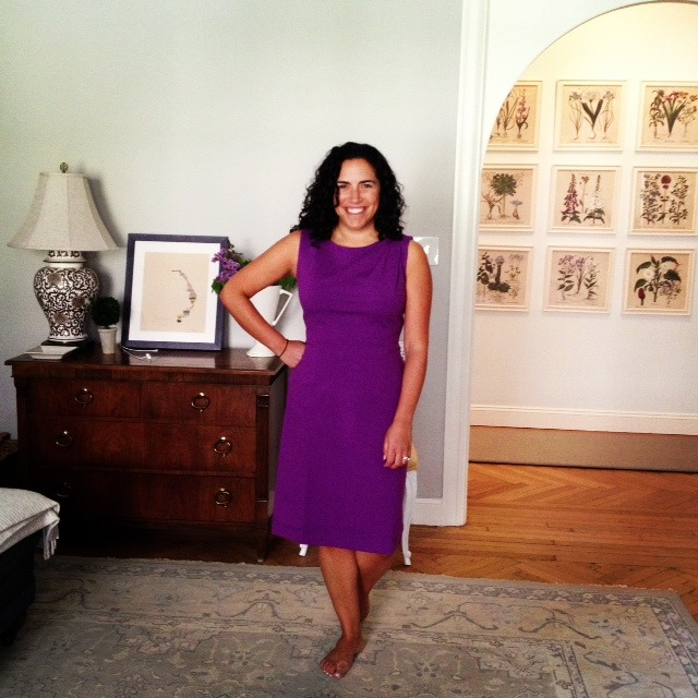 Chic in our Lilac Sabrina Dress!
