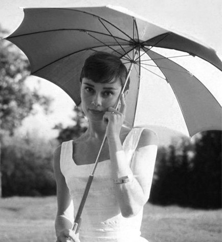 nothingbutaudreyhepburn:  Audrey Hepburn, early fifties.