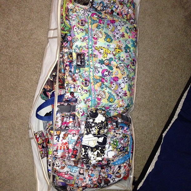Layers upon layers! You can never have too many #tokidoki bags @tokidokibrand