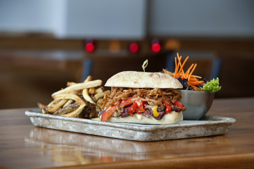 Have you tried the fender bender yet? It's our take on a steak sandwich.
