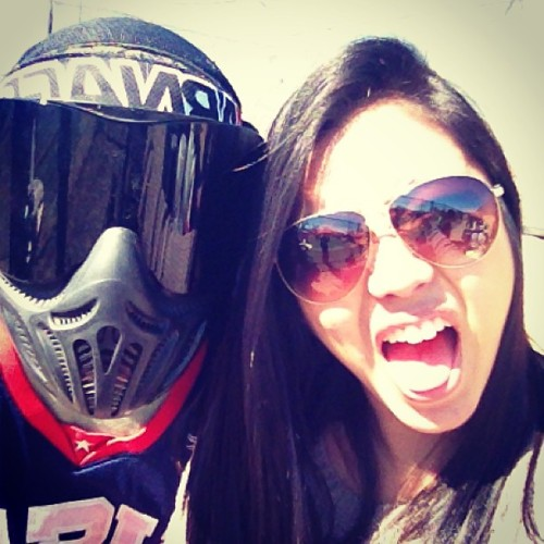 risssav:  Its sort of important to him. @lounard #paintball #paintballING #itsnotboringsoiguessitsokay #itstooloudhere #andwerehungryagain #imcravingsushi #hurryup