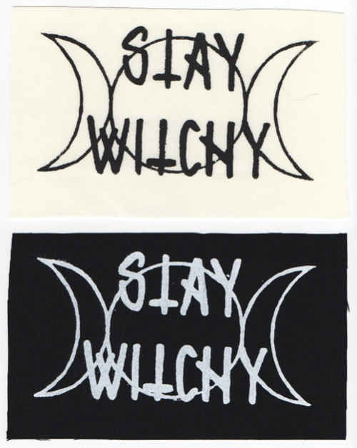 ~stay witchy~//screenprinted patches//4x6.5 available here