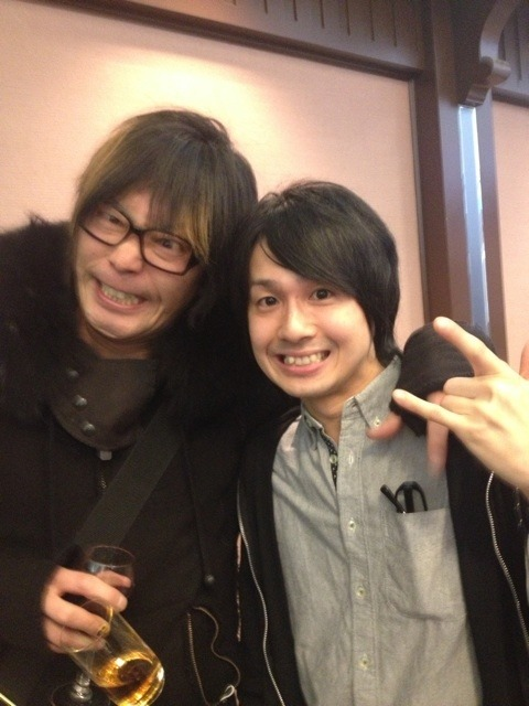 tsuminiochiiru:  Kishow and Sakamoto-chan after last night's show~ ♪