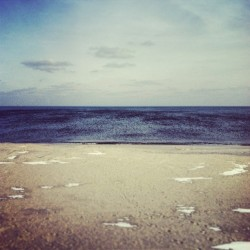 imnosuperman10:  Peaceful but it's freezing out here #beach #peaceful #nj #jerseyshore