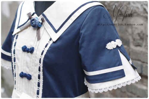 thinklolita:  Maofish Chinese Sailor OP, 270CNY deposit, full price: 470 CNY S Length 86, chest 84 to 87, waist 74 to 76 M length 88, chest 88 to 91, waist 76 to 78 L length 90, chest 92 to 95, waist 78 to 80 Colors: Purple Blue, Ink blue, Purple, Brown, Mint blue *please note that the white is more off-white and it's not pure cold white* For more finds, follow thinklolita on tumblr. Seriously.