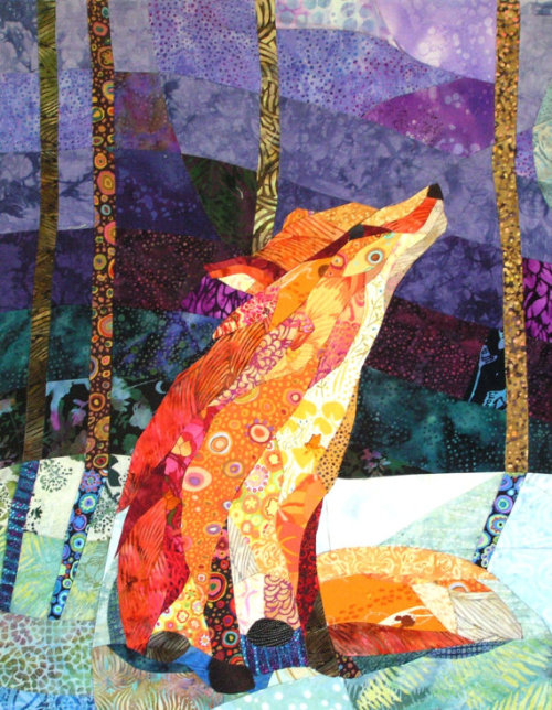 alpenstrasse:  Orange Fox Purple Night by C Collier Studio, Portland Oregon