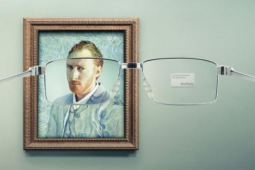Transformando el impresionismo en hiperrealismo ÓpticasKeloptic. AgenciaY&R, Francia. … visto en publizia, http://publizia.org/