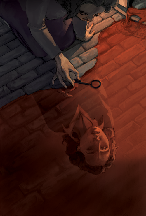 "fairytalemood:  ""The Bloody Chamber"" by Erika Steiskal"