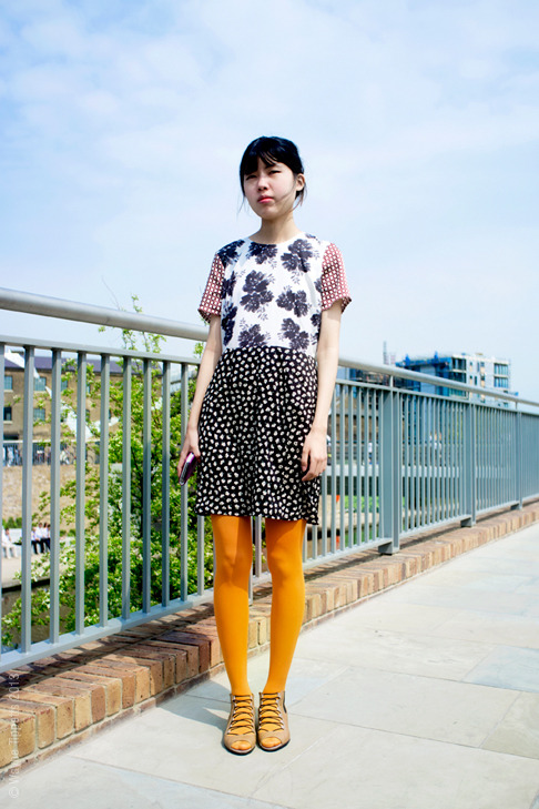 theclotheshorse:  Jisu photographed by Street Style Aesthetic  Dress!