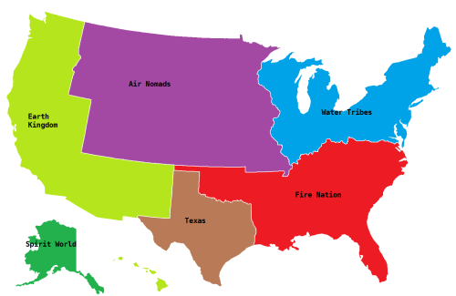 fushigikid:  So…is Texas The United Republic of Nations…?