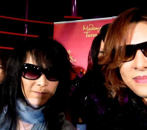 #Xjapan press conference! Backstage pic with HEATH —Yoshiki @ FB