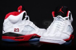 "Air Jordan V ""Fire Red"" – Release Date -  Air Jordan VWhite/Fire Red-Black : 136027-120 : 08/31/13 via jordansdaily.com"