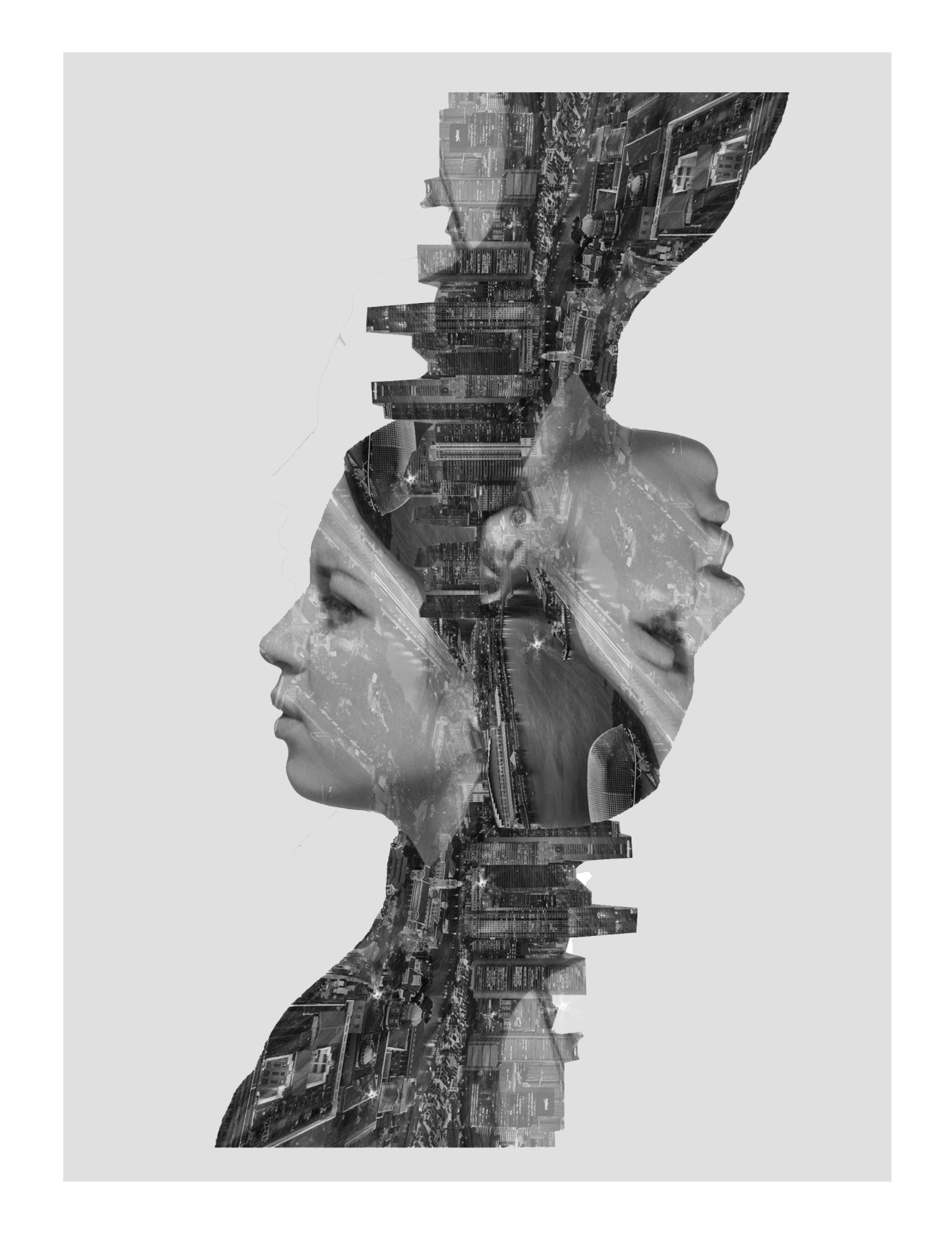 tumblropenarts:  Double Exposure Effect - Singapore http://attackofthepenis.tumblr.com/