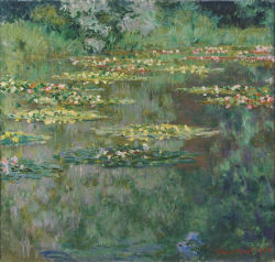 "arsvitaest:  ""The Water Lily Pond""  Author: Claude Monet (French, 1840-1926) Date: 1904Medium: Oil on canvasLocation: Denver Art Museum"