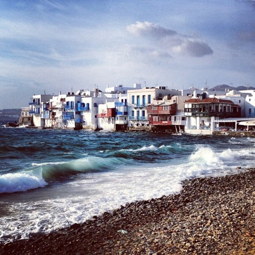 Little Venice ☀ #mykonos #greece #greekislands #littlevenice #beach #travel (at Μικρή Βενετία (Little Venice))