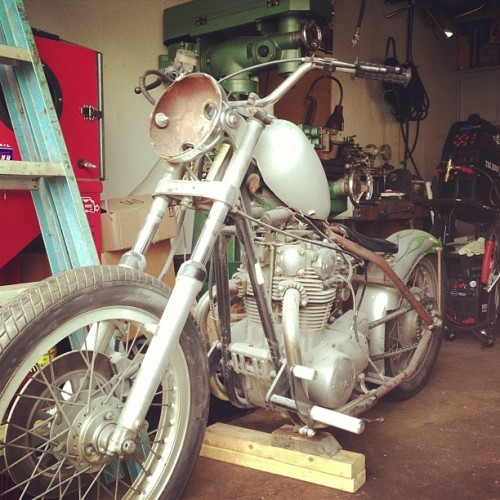 To sell or slap together? That is the question. #xs650 #chopper #bobber #rigid #tcbros (at pat doodys art district)