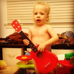 #Jack serenading me with a pre-bath time song.