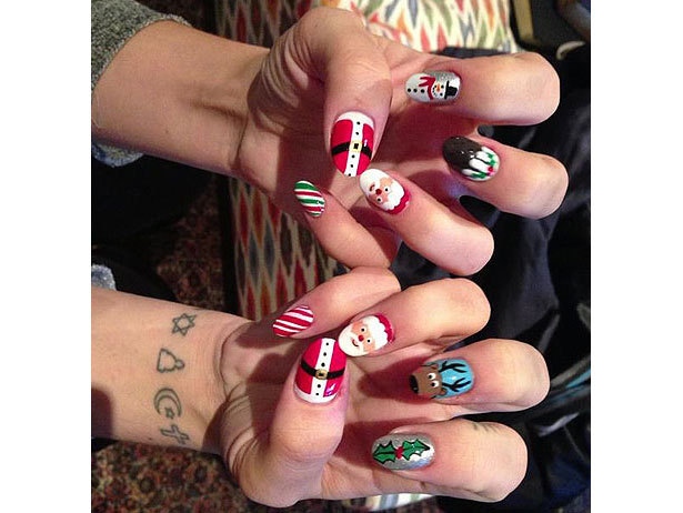 Who's sporting these festive holiday nails?