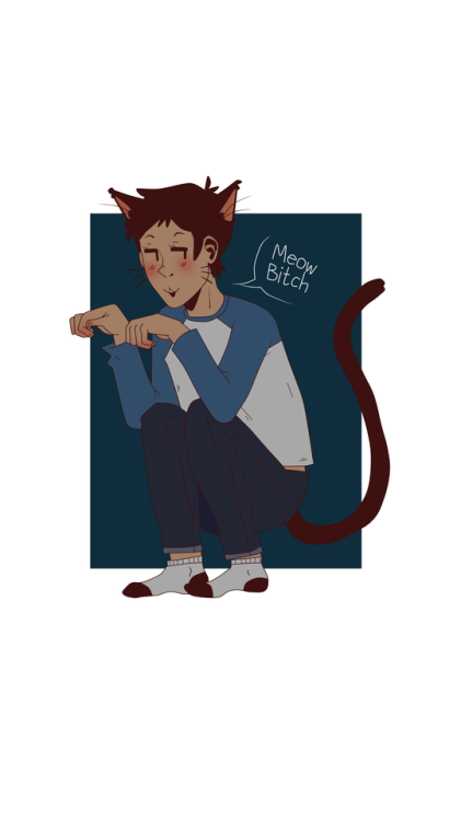 dude ive drawn so much today go me lance mcclain can i say hes talking to keith and tag it as klance? welp im gonna klance here have a kitty kitty lance neko lance whatever floats your boat shit i drew