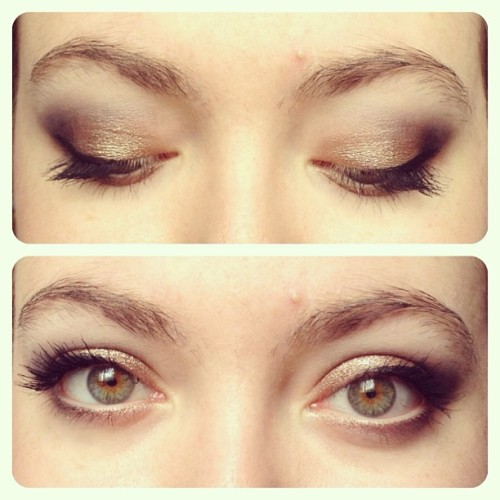 #muotd #makeup #makeupoftheday #fotd #face #eyes #gold #black #eyelashes #eye #personal #selfie #instagram