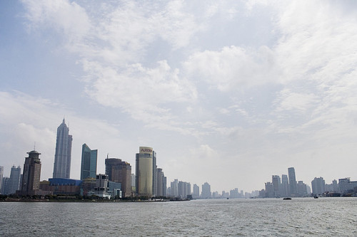 Photo: Pudong from Huangpu Park, Shanghai, by d. FUKA http://bit.ly/13UUVNl