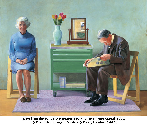stelle-e-stalle:  David Hockney, My parents