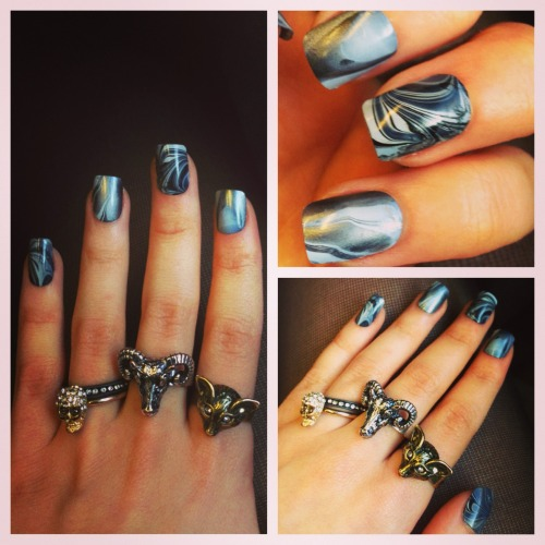 Hey guys!! Heres some marbled nails for you.   www.facebook.com/ellysclaws