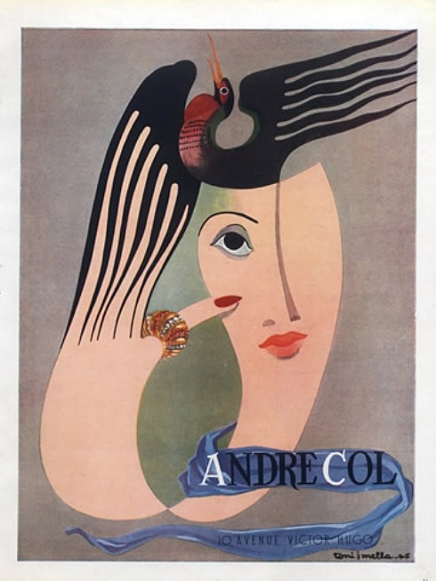 Andre Col Jewellery 1945 illustration by Tony J Mella