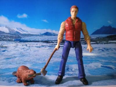 Canadian G.I. Joe: Timbit.  Pictured with his side-kick: Snack Pack (a beaver)