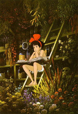 anime flowers nature Magic Witch garden studio ghibli spells Anime girl kikis delivery service
