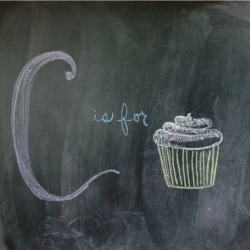 chalkalphabet:  C is for Cupcake 🎂