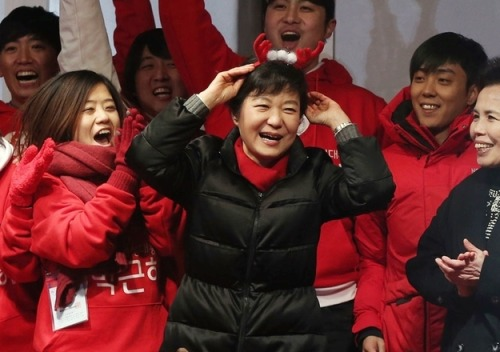 buzzfeed:   Meet Park Geun-Hye, the first female president of South Korea.   I hope she receives all the love, support, and strength she needs to lead her country.