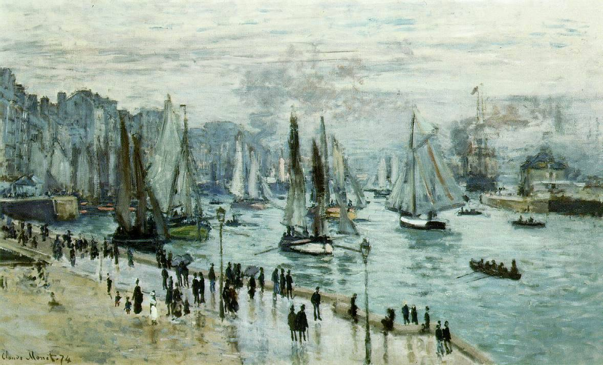Claude Monet, Fishing Boats Leaving the Harbor/Le Harve (1874)