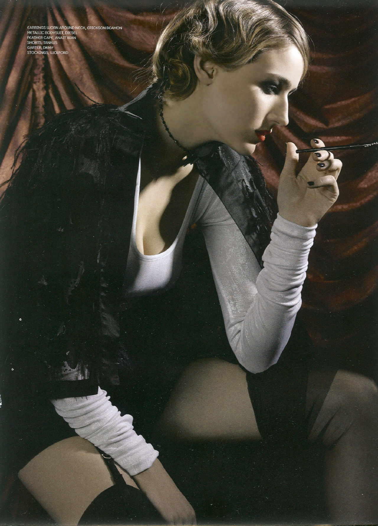 Leelee Sobieski Lush Spring 2008 Magazine (scan and photoshoot)