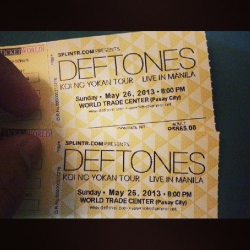 We missed Toe and Bloc Party concert but not @deftonesband. #deftones