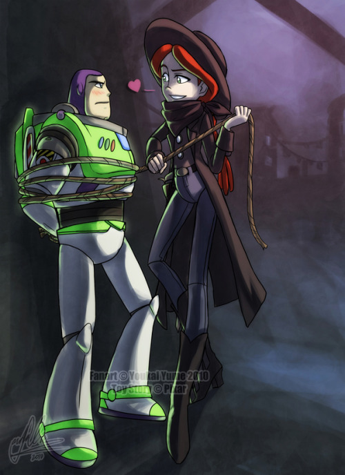 fyeahbuzzandjessie:  Buzz+Jessie: Turf by *YoukaiYume  This is hanging above my bed… therefor I must always reblog it