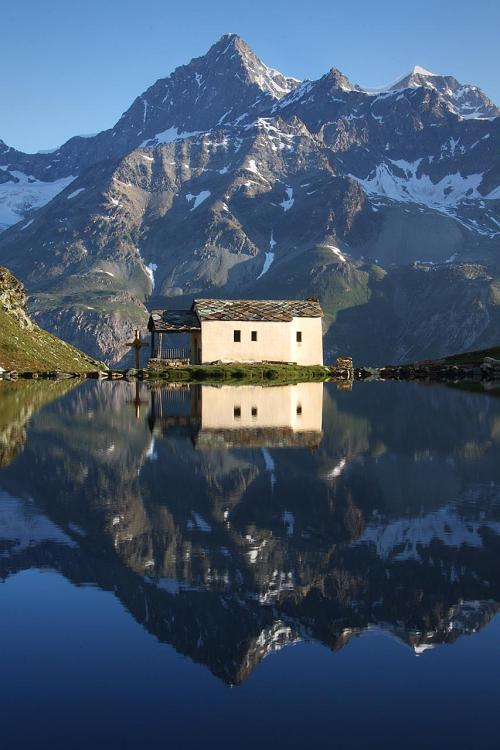 magicalnaturetour:  Church at Schwarzsee , Switzerland. ~ jchip