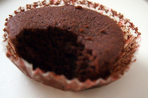 "A sophisticated chocolate butter cupcake (from ""Rose's Heavenly Cakes"" by Rose Levy Beranbaum)"
