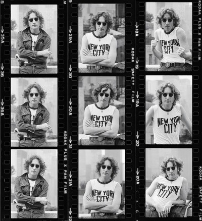 superseventies:  John Lennon photographed by Bob Gruen, 1974.