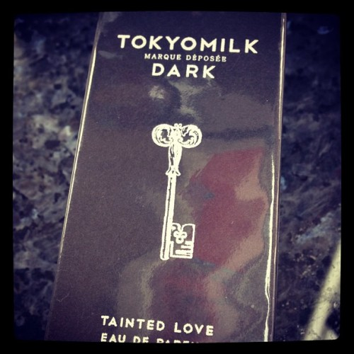 New obsession: TOKYOMILK DARK Tainted Rose perfume. smells divine and the packaging is gorgeous! So sleek! #perfume #beauty #black #vanilla #tokyomilk