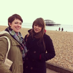 This happened. Me and my long lost honorary sis. Brighton.