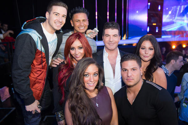 Simon Cowell photo with Jersey Shore