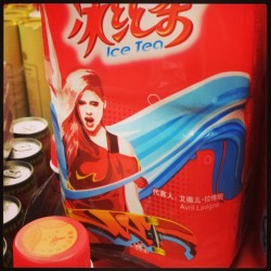 Avril Lavigne really loves tea. (at 金中意购物广场 G-JOY Supermarket)