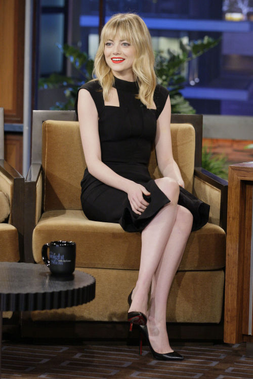 Emma Stone appearance on Jay Leno January 8