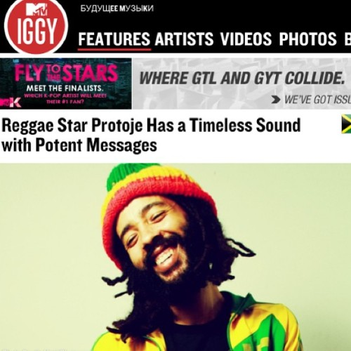 MTV Iggy feature.. #protoje #indiggnation