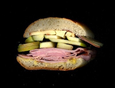 Crosby Connection: Virginia Ham, Smoked Gouda, Green Apples, Honey Mustard, On a hero